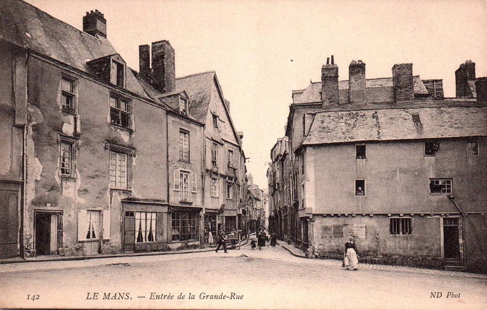 Le Vieux Mans - Entrée de la Grande Rue