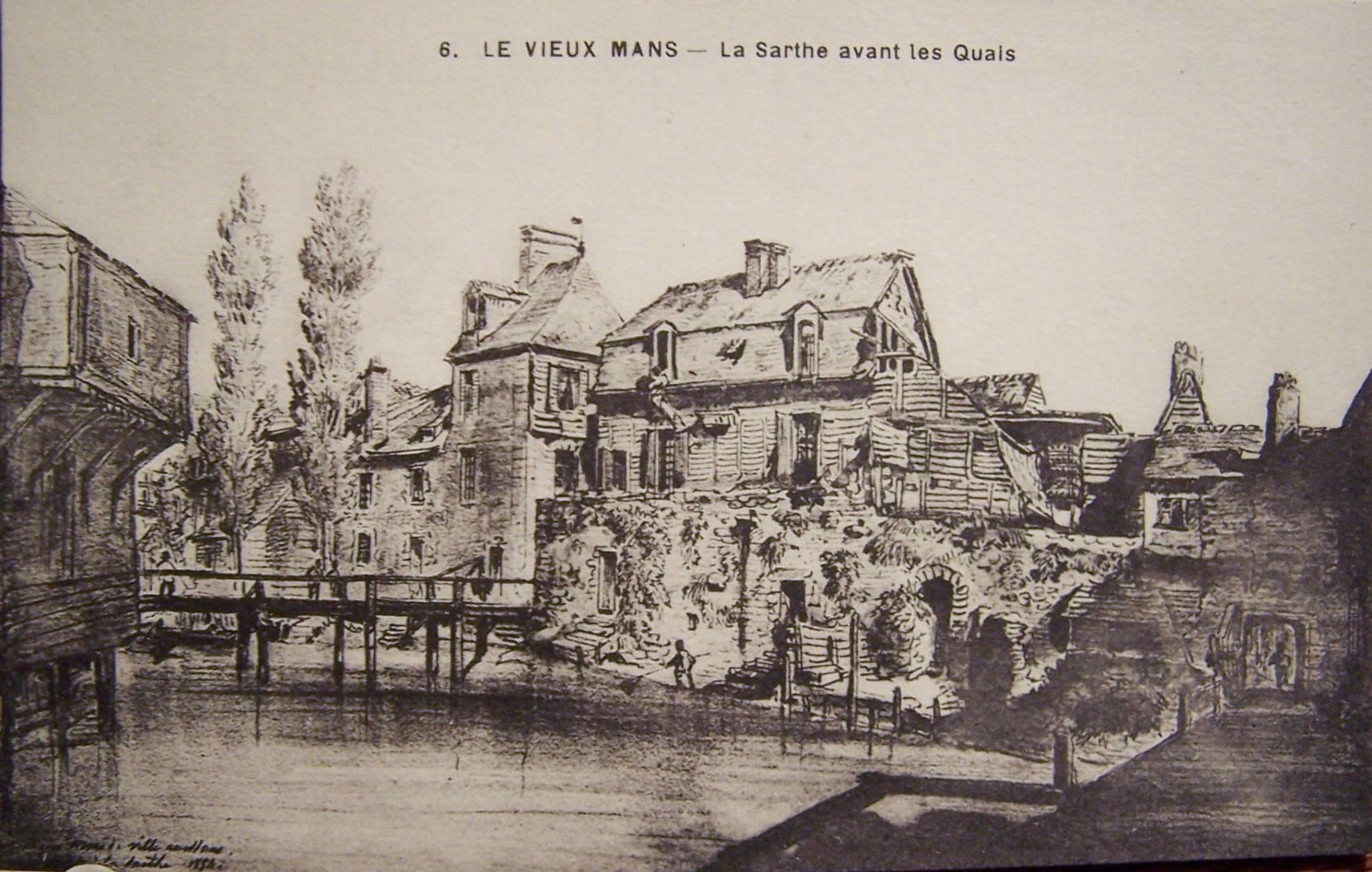 Le Vieux Mans - La Sarthe avant les Quais
