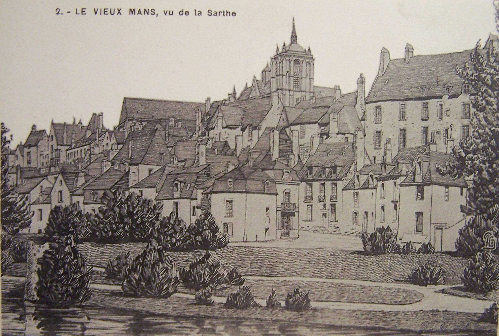 Le Vieux Mans - Le Vieux Mans, vu de la Sarthe