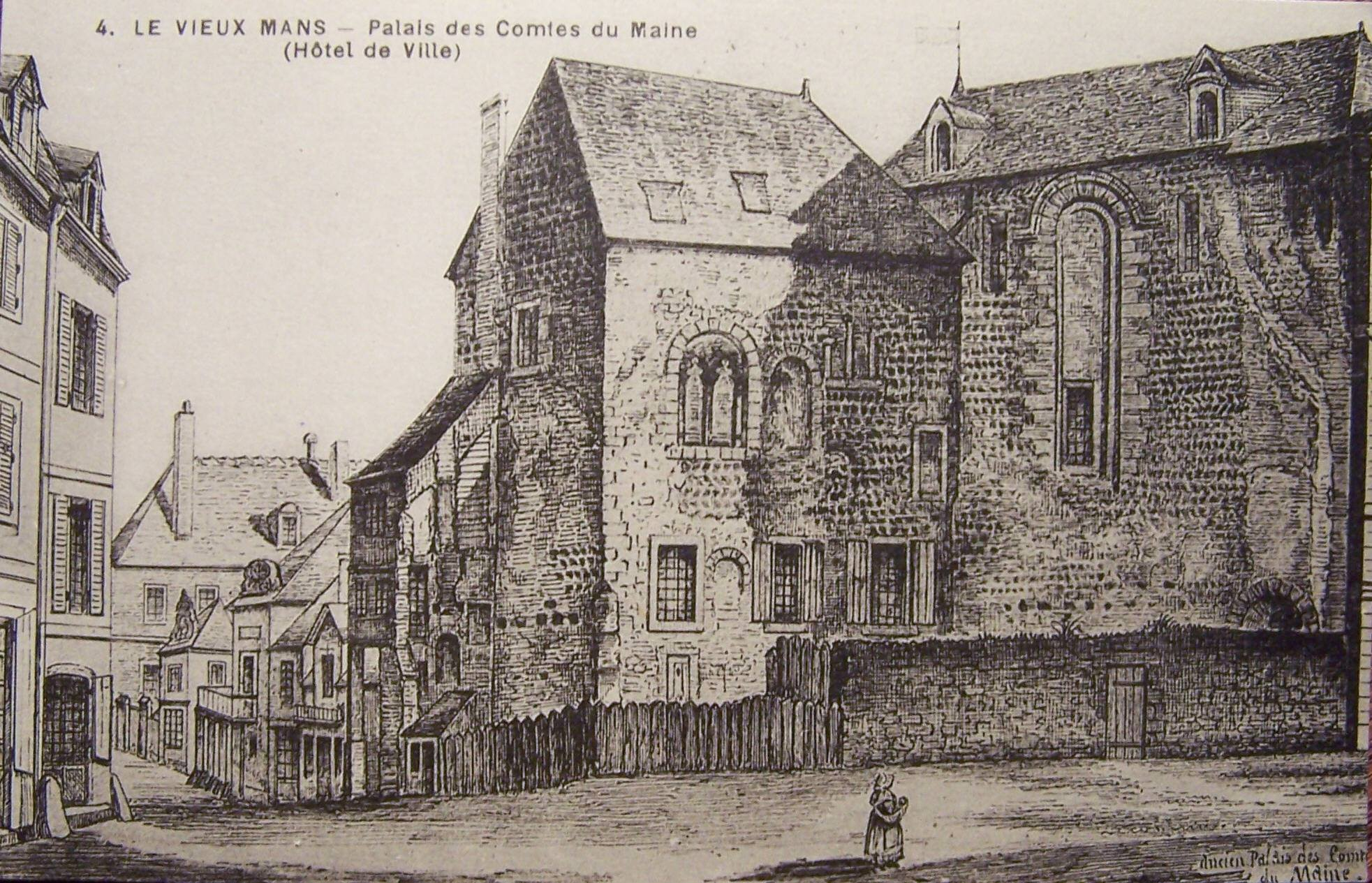 Le Vieux Mans - Palais des Comtes du Maine (Hôtel de Ville)