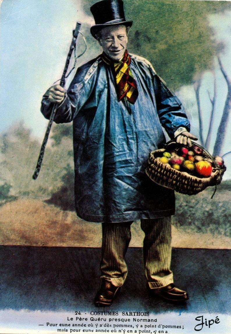 Au quotidien - Art de vivre et costumes - Costumes Sarthois - Le Père Quéru presque Normand