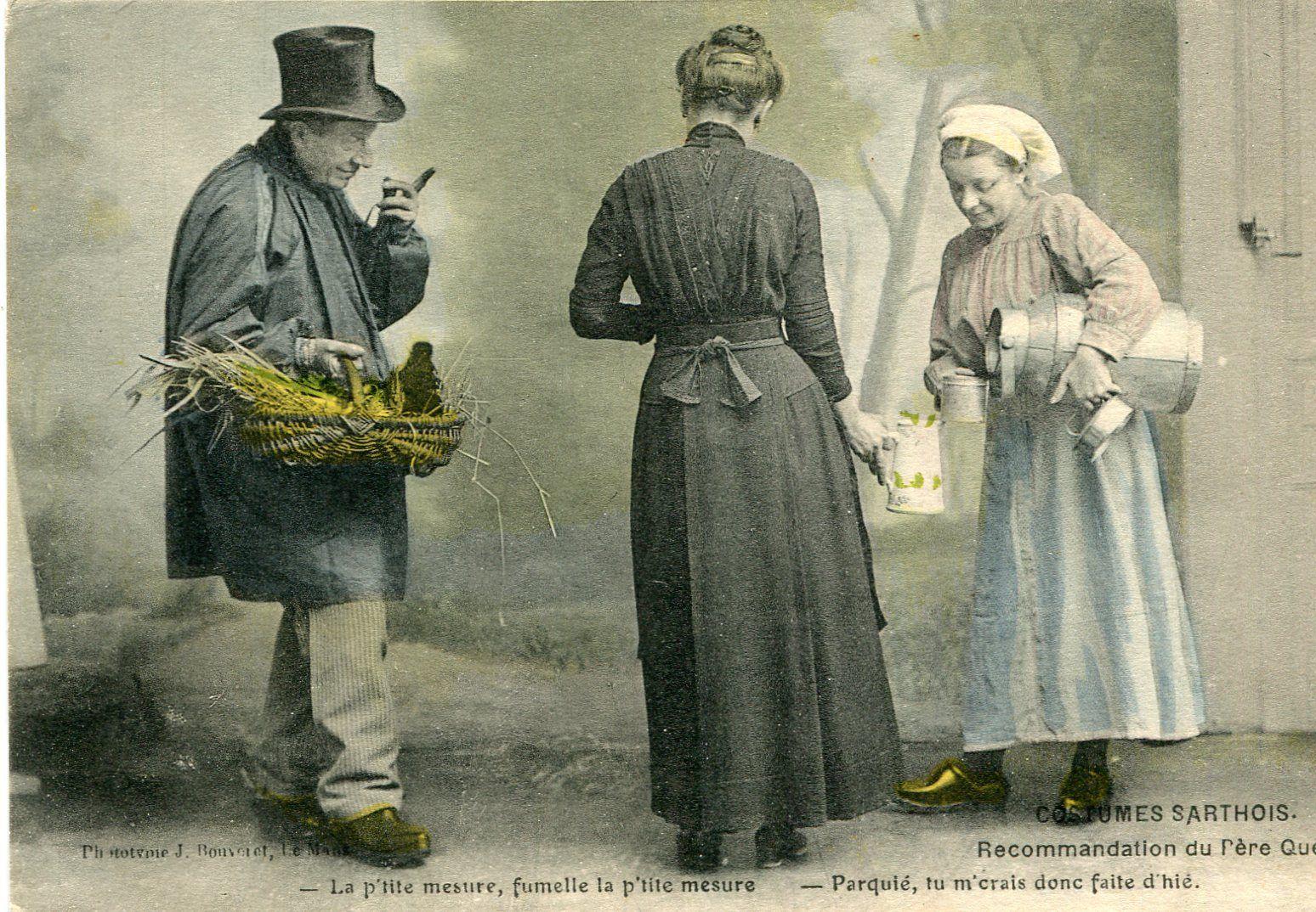 Au quotidien - Art de vivre et costumes - Costumes Sarthois - Recommandation du Père Quéru
