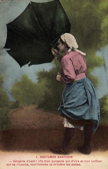 Au quotidien - Art de vivre et costumes - Costumes Sarthois - Saloprie d'vent