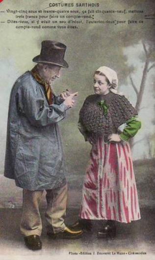 Au quotidien - Art de vivre et costumes - Costumes Sarthois - Vint cinq nous et trente quatre vous