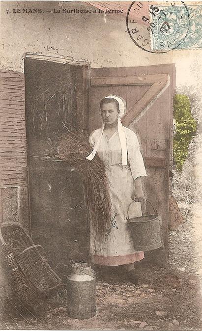 Au quotidien - Art de vivre et costumes - La Sarthoise à la ferme