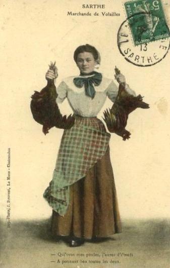 Au quotidien - Art de vivre et costumes - Marchande de Volailles