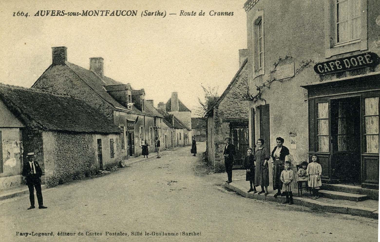 Auvers sous Montfaucon - Route de Crannes