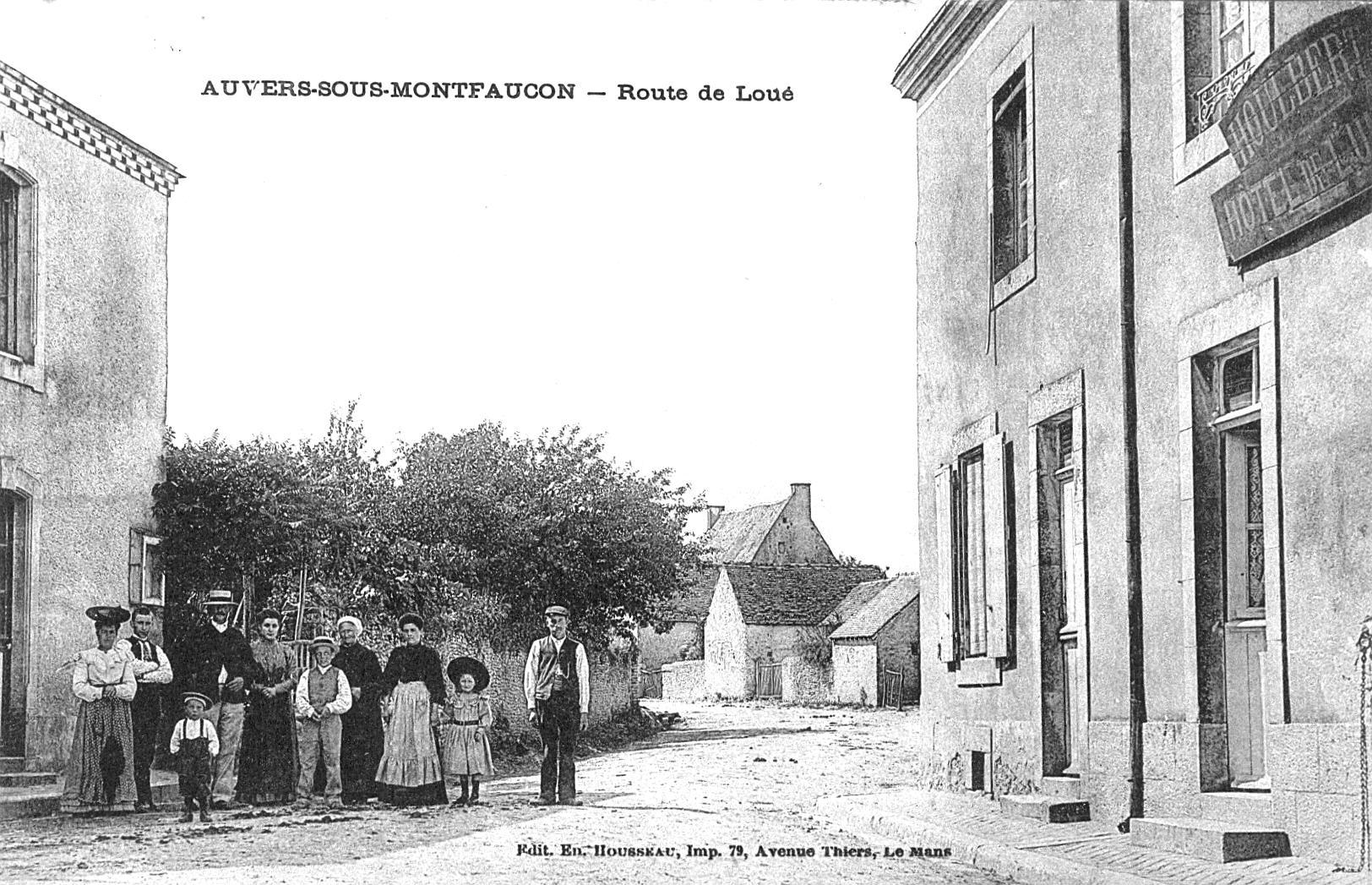 Auvers sous Montfaucon - Route de Loué