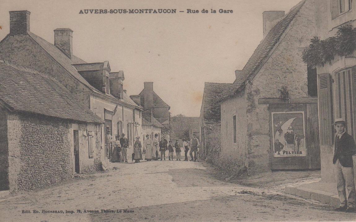 Auvers sous Montfaucon - Rue de la Gare