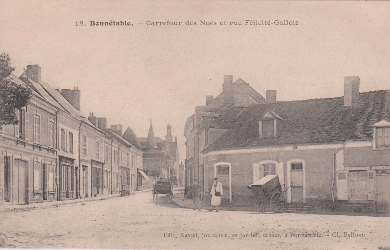 Bonnétable - Carrefour des Noës et rue Félicité Gallois