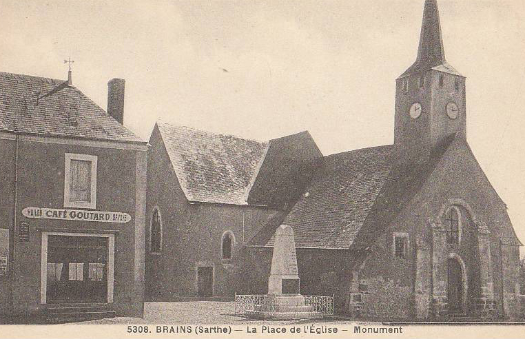 Brains sur Gée - La Place de l'Eglise - Monument