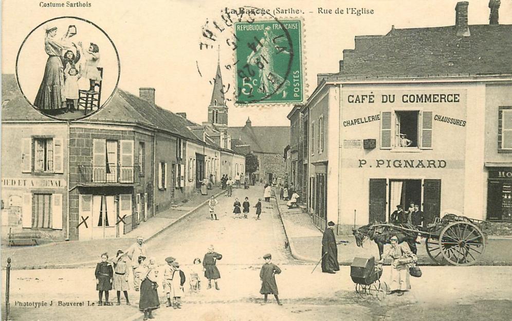 La Bazoge - Rue de l'Eglise