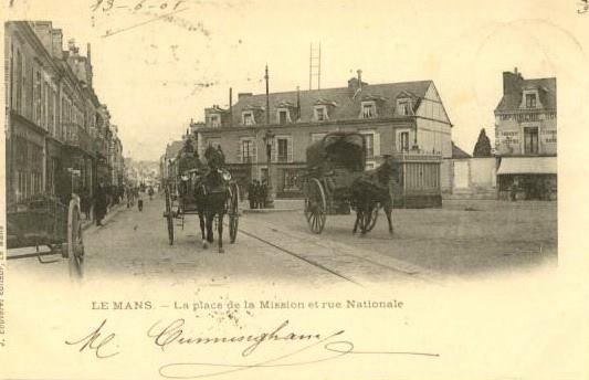 Le Mans - La place de la Mission et rue Nationale