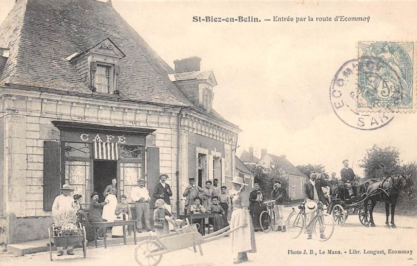 Saint Biez en Belin - Entrée par la route d'Ecommoy