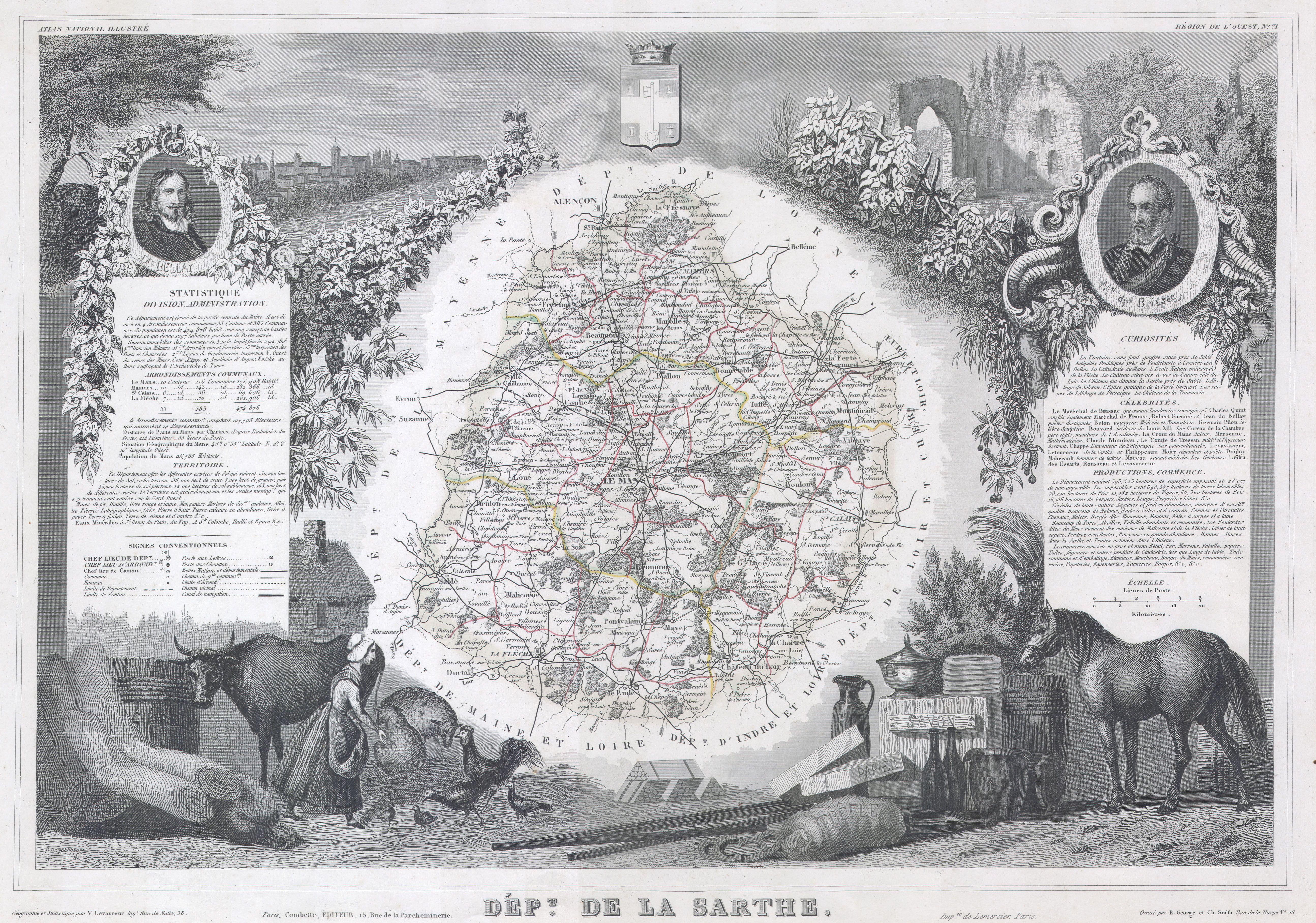 Cartes et plans - Département de la Sarthe - Vue 02 (Source Internet, Wikimedia Commons)
