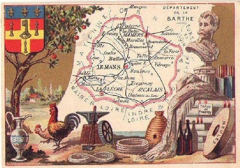 Cartes et plans - Département de la Sarthe - Vue 03 (Sylvine Deramaix Vitry)