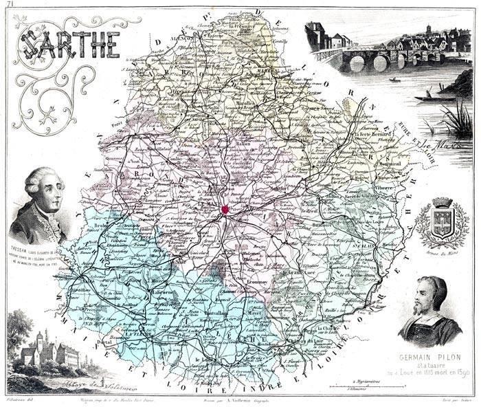 Cartes et plans - Département de la Sarthe - Vue 04 (Sylvine Deramaix Vitry)