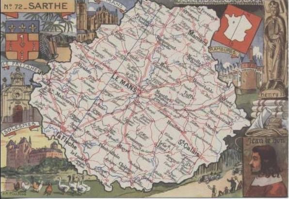 Cartes et plans - Département de la Sarthe - Vue 05 (Christophe Menu dit Tahiti)