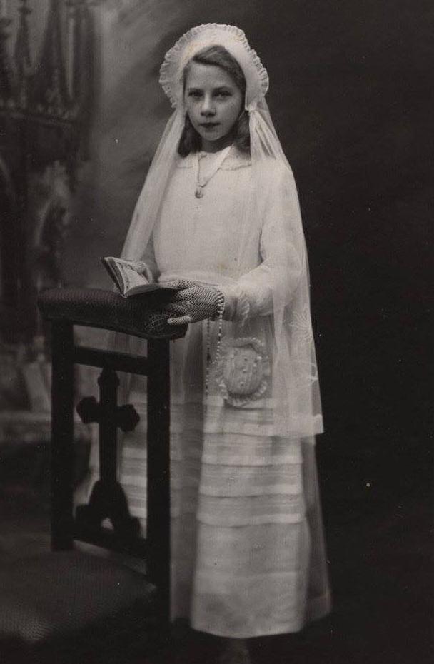 Bonnétable - Communion - BOULAY Rolande - Ma tante - 1948 (Sylvie Leveau)