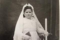 Lieu inconnu - Communion - BOULAY Yvette, Georgette - Ma grand mère - Vers 1951 (Natacha Fabre Véron)
