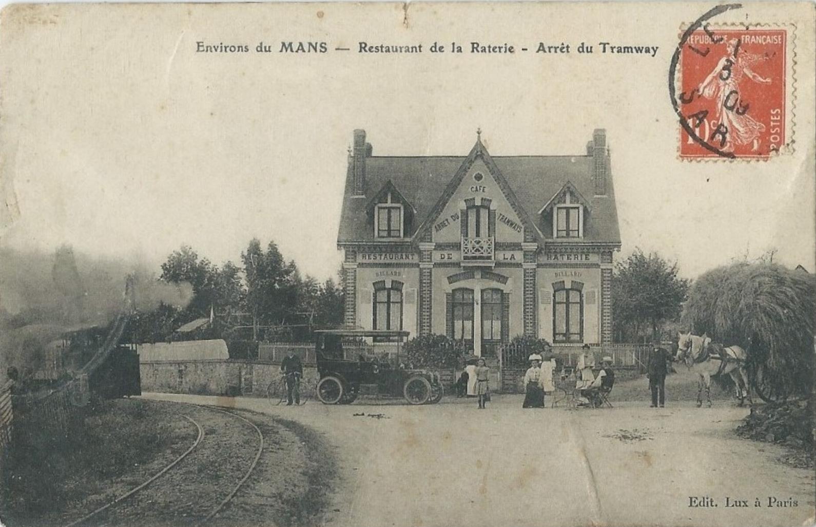 Allonnes - Restaurant de la Raterie - Arrêt du Tramway