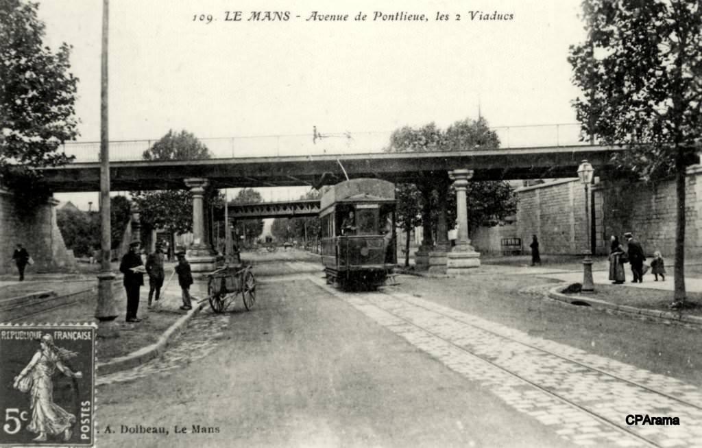 Le Mans - Avenue de Pontlieue, les 2 Viaducs