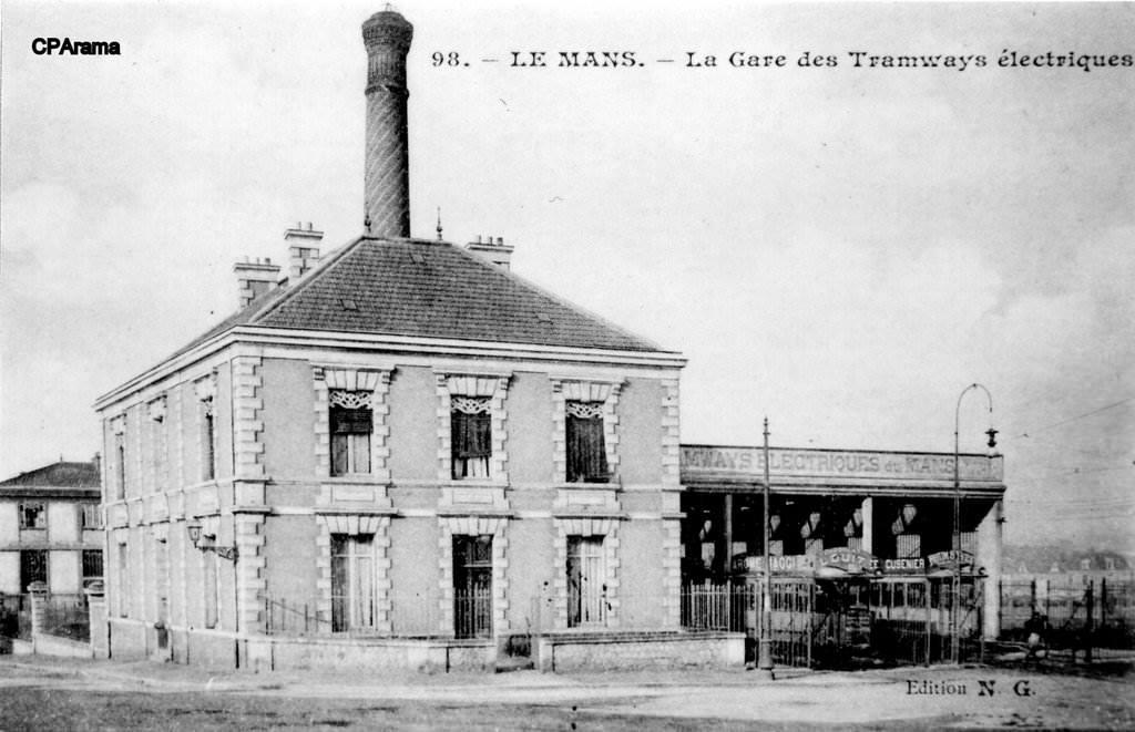 Le Mans - La Gare des Tramways électriques