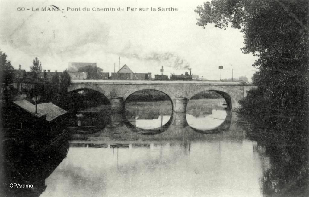 Le Mans - Pont du Chemin de Fer sur la Sarthe
