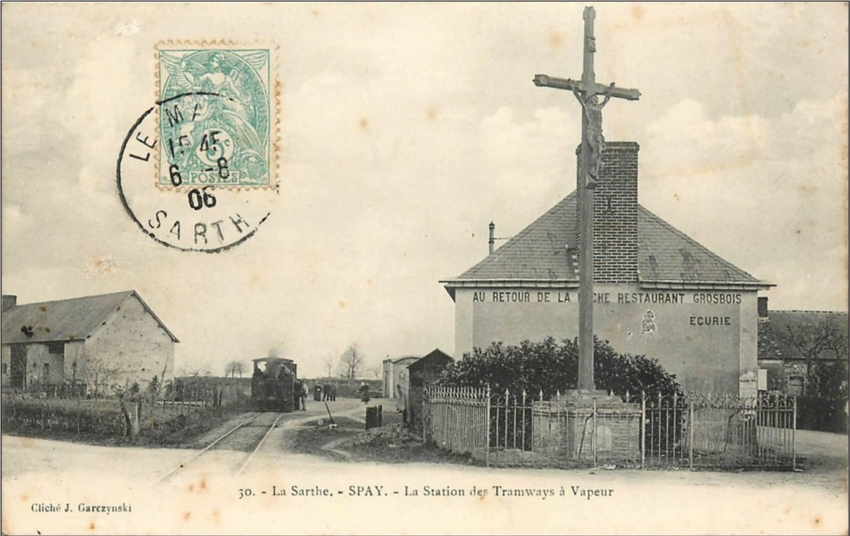 Spay - La Station des Tramways à Vapeur