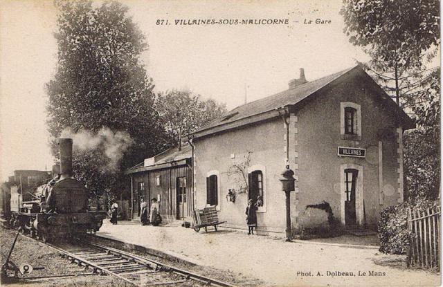 Villaines sous Malicorne - La Gare
