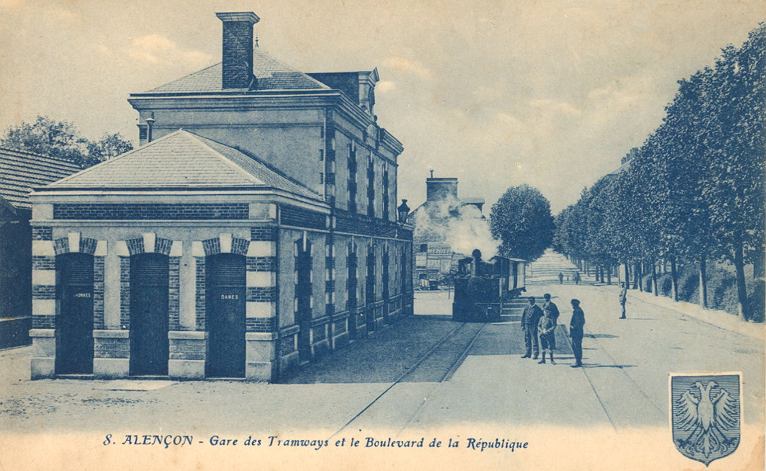 Zone 61 - Alençon - Gare des Tramways et le Boulevard de la République