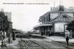 Beaumont sur Sarthe - La Gare de Vivoin Beaumont