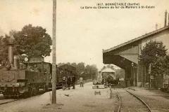 Bonnétable - La Gare du Chemin de fer de Mamers à Saint Calais