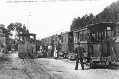Guécélard - La Gare des Tramways, le croisement des trains