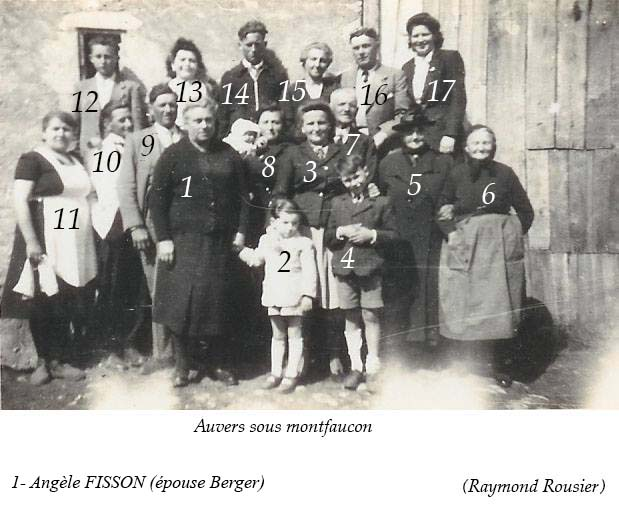 Auvers sous Montfaucon - Groupes - Réunions de famille - Famille FISSON (Raymond Rousier)
