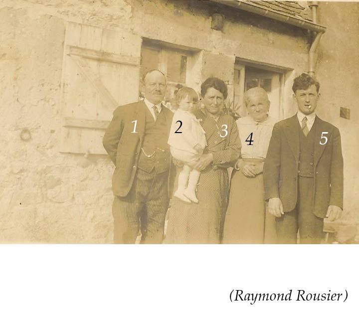 Groupes - Réunions de famille - Inconnus 05 (Raymond Rousier)