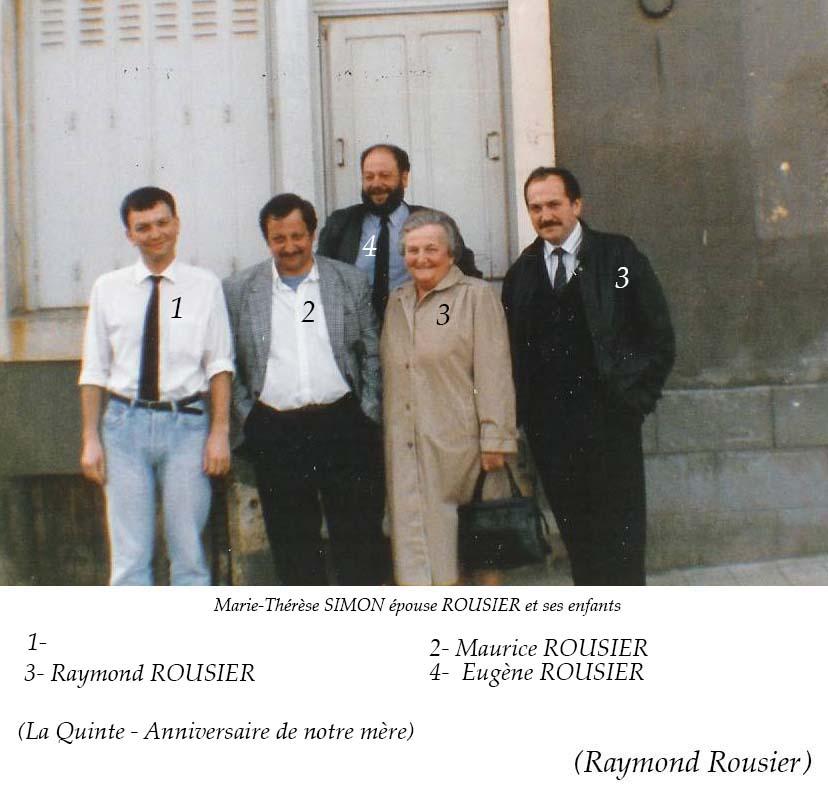 La Quinte - Groupes - Réunions de famille - Famille ROUSIER (Raymond Rousier)