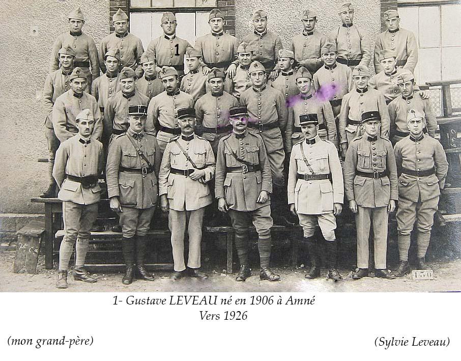 Militaires - Soldats - LEVEAU Gustave, Louis - Vers 1926 (Sylvie Leveau)
