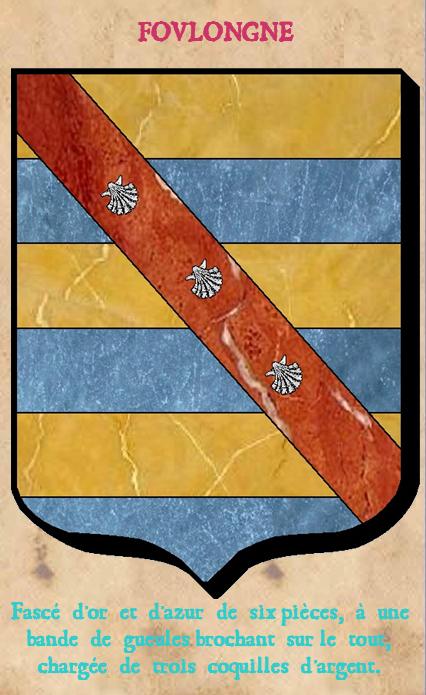 Armoiries et Blasons - Foulongne - Seigneurs de la Motte, de la Sunnerie, de Saint Jean, de Damteville, de Castillon - Vue 02 (Bruno Simon)