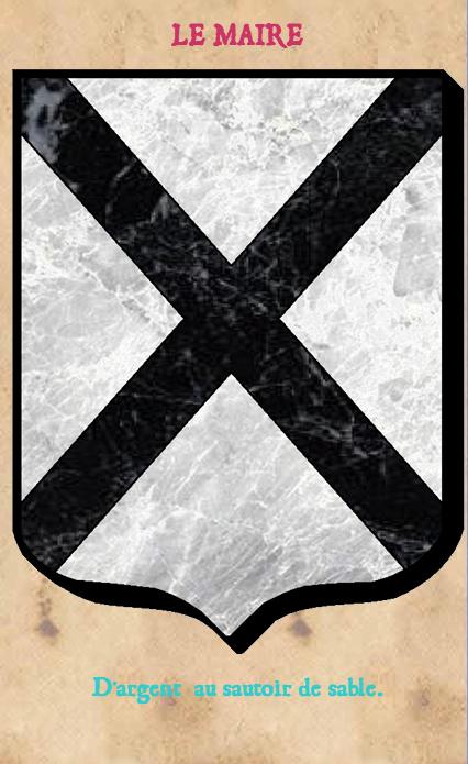Armoiries et Blasons - Le Maire de Millières - Seigneurs de Millières, de la Goupillère, de Cordouan, d'Izé - Vue 02 (Bruno Simon)
