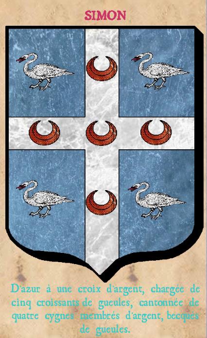Armoiries et Blasons - Simon de Touffreville - Seigneurs de Touffreville, de Clère et de Rondelaire - Vue 02 (Bruno Simon)