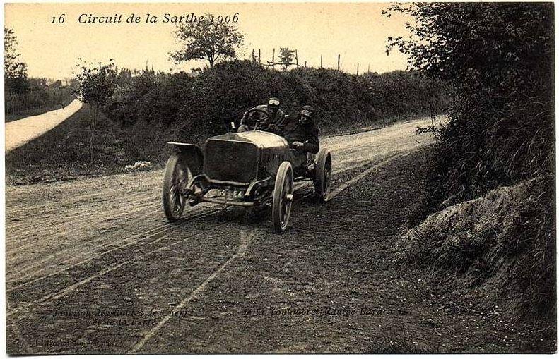 Circuit de la Sarthe 1906 - Jonction des routes de Cherré et de la Ferté