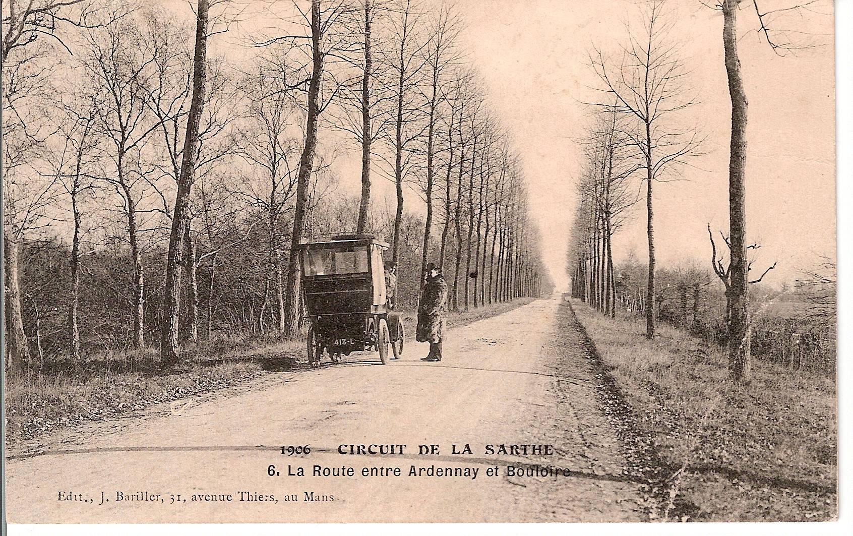 Circuit de la Sarthe 1906 - La Route entre Ardenay et Bouloire