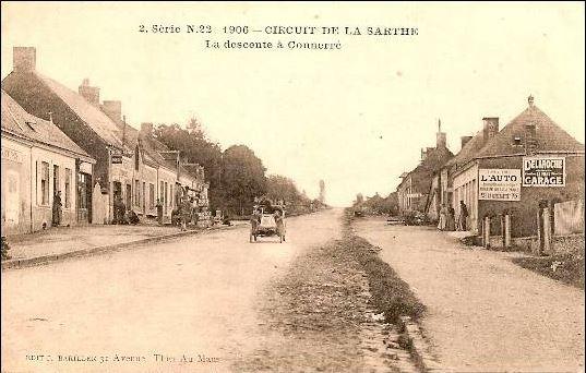 Circuit de la Sarthe 1906 - La descente à Connerré