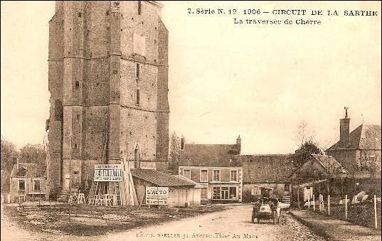 Circuit de la Sarthe 1906 - La traversée de Cherré