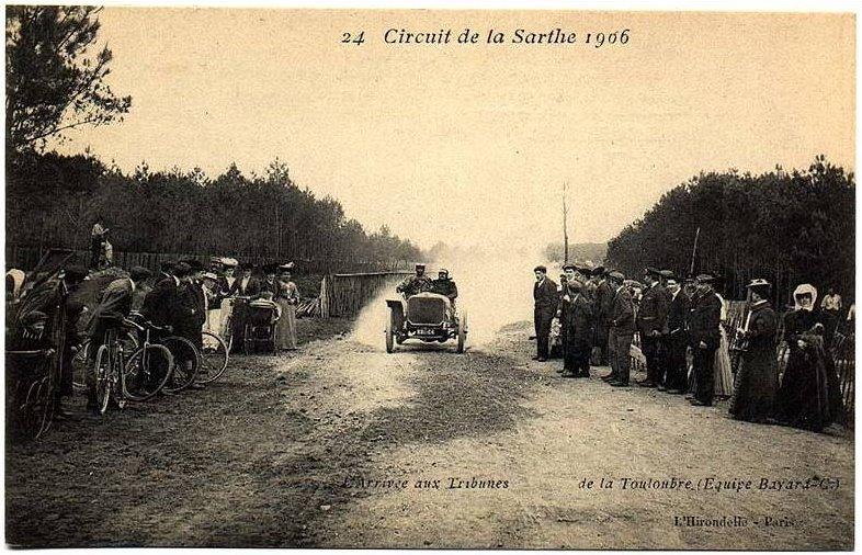 Circuit de la Sarthe 1906 - L'arrivée aux tribunes