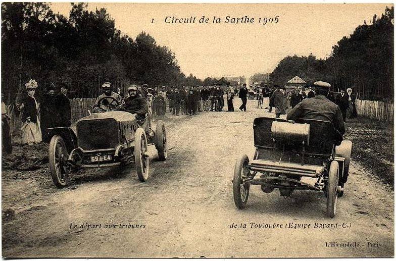 Circuit de la Sarthe 1906 - Le départ aux tribunes