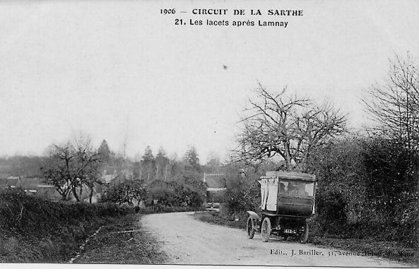 Circuit de la Sarthe 1906 - Les lacets après Lamnay