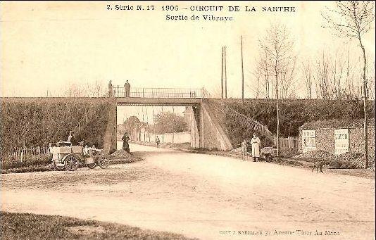 Circuit de la Sarthe 1906 - Sortie de Vibraye