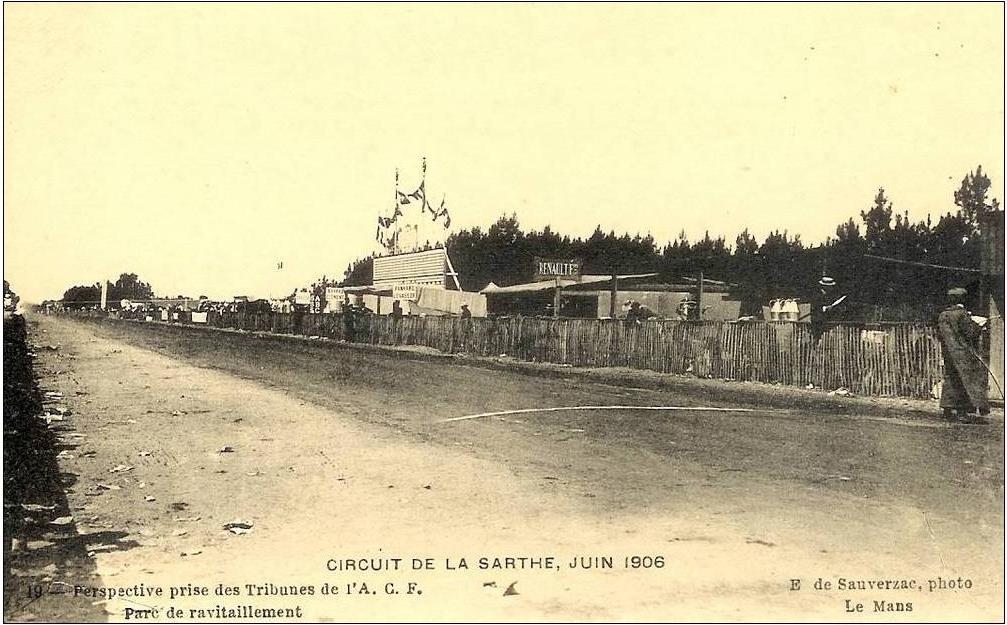 Circuit de la Sarthe, Juin 1906 - Parc de ravitaillement